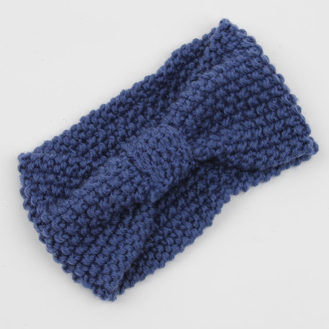Fashion Winter Warm Women Crochet Knitted Braided Knit Wool  Headband Hair Band Knot Pattern Headband Elastic Head Wrap Turban
