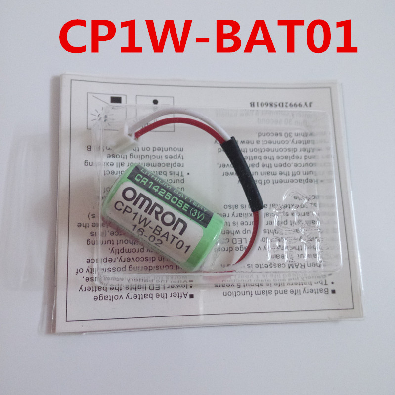 10pcs Original New Date CP1W BAT01 3V PLC Lithium Battery Batteries with plugs connectors CR14250SE R