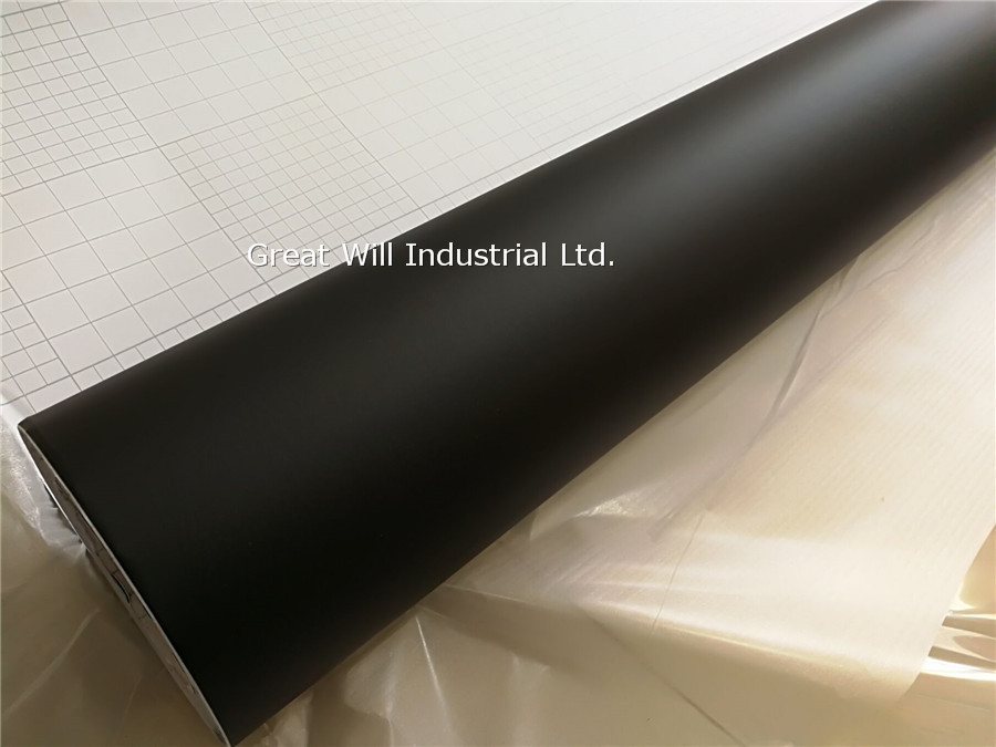 High Quality Matte Black Vinyl Wrap Film with Air Bubble Free Black Matt Car Wrap Covering Film Like 3m Size 1.52x30m/Roll