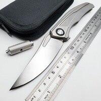 JSSQ Bear Folding Knife S35VN Blade TC4 Titanium Handle Camping Tactical Pocket Knife Outdoor Survival Hunting Knives EDC Tools