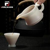 150 мл бутик белый фарфор справедливой кружка Керамика Китайский кунг фу Чай комплект Чай море Кофе молоко Чай бамбуковые чашки посуда Home Decor