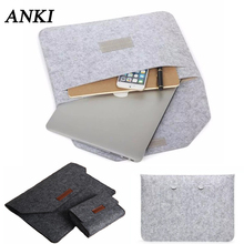 Mannen Vrouwen Vilt Notebook 14 15.6 inch Sleeve tas Voor apple Macbook air Pro Retina 11 12 13 15 zak voor Xiaomi ASUS HP Laptop Case