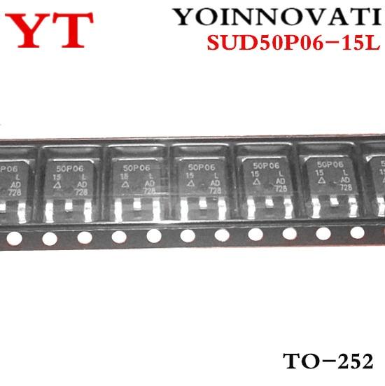 Free shipping 600pcs lot SUD50P06 15L SUD50P06 50P06 15 50P06 TO 252 IC Best quality