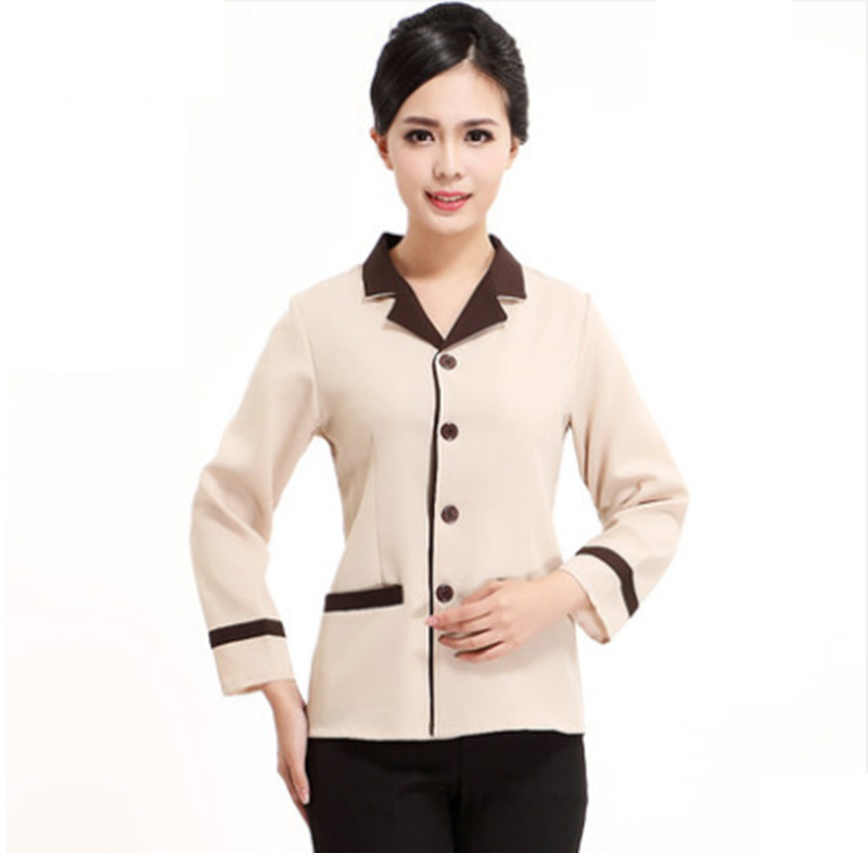 Summer short sleeves hotel cleaner uniform hotel uniform for waitress hotel staff uniform for cleaners hotel service uniform(China)