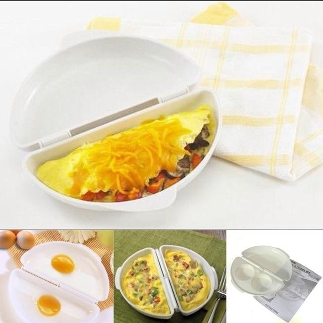 Home Use Microwave Egg Omelet Mold Pan Maker Egg Poacher Kitchen