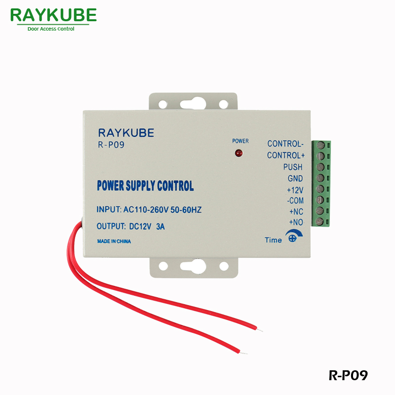 RAYKUBE Access Control Power Supply Controller Output DC 12V 3A Input AC 110 240V R P09