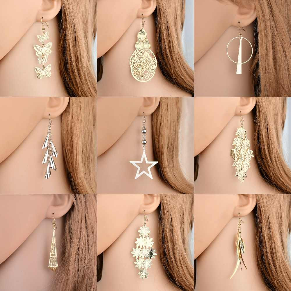 New personality versatile fashion exaggerated Baroque multi-level retro style texture metal multi-layer tassel temperament long