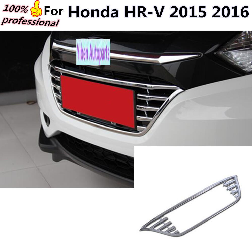 *Widen*Car body styling cover protection ABS chrome trim Front up Grid Grill Grille Around 1pcs for Honda HR-V HRV 2015 2016 abs chrome front grille around trim for ford s max smax 2007 2010 2011 2012