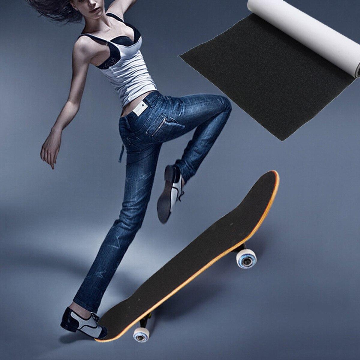 Skate Board Rollschuhe, Skateboards Und Roller Symbol Der Marke Wasserdicht Skateboard Griff Band Skateboard Schleifpapier Mini Fisch Bord Longboard Deck Griptapes Sand Papier 22,5x83,5 Cm Hochglanzpoliert
