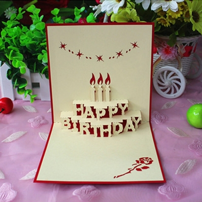 Yuan sheng Happy Birthday card three dimensional greeting cards