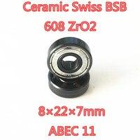 FREE SHIPPING 16PCS SET 608 Z Skate Bearing Swiss Brand Abec11 Hybrid Ceramic ZrO2 Ball Skateboard