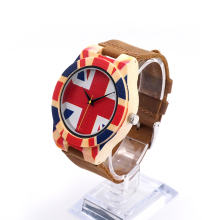 BOBO BIRD J22 New Arrival Top Brand Design Wood Watches England Flag Design Child UV print Wooden Watches