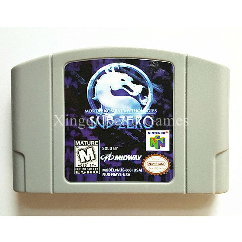 Nintendo N64 Game Mortal Kombat Mythologies Sub-Zero Video Game Cartridge Console Card English Language US Version