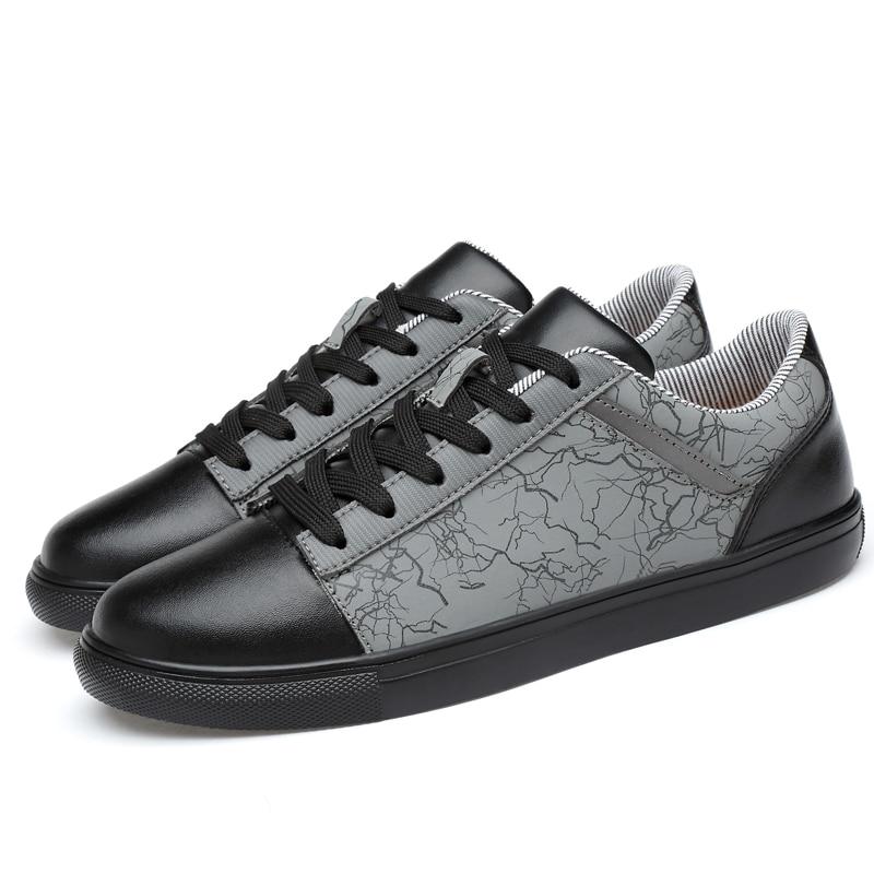 2018 spring Men Shoes Luxury Brand Leather Casual lace up Shoes Men - Men's Shoes - Photo 2