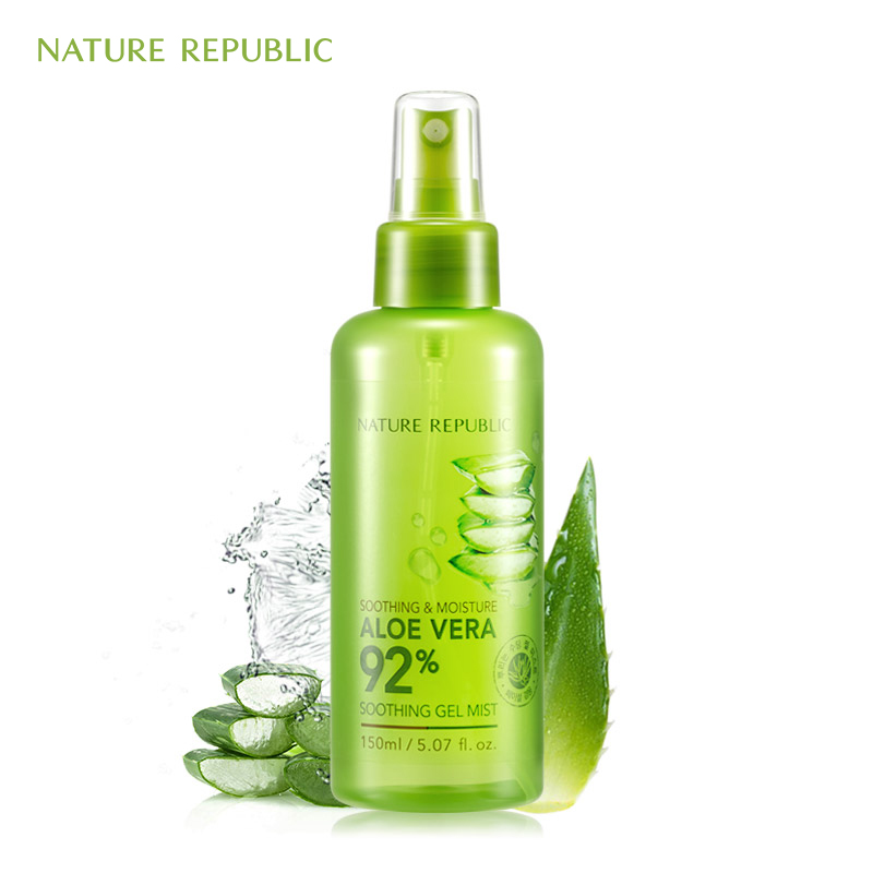 Nature Republic 150ml Face Toner Soothing&Moisture Aloe Vera 92% Soothing Gel Mist Aloe Moisturizing Spray