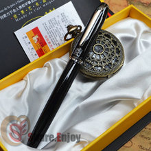 PICASSO 916 EXECUTIVE BLACK AND SILVER ROLLER BALL PEN