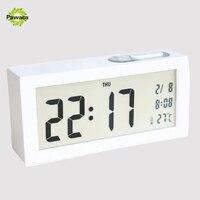 1pcs Large Digital Alarm Clocks LCD Student Electronic Desk Clock Snooze Sensor Kids Table Alarm Clock