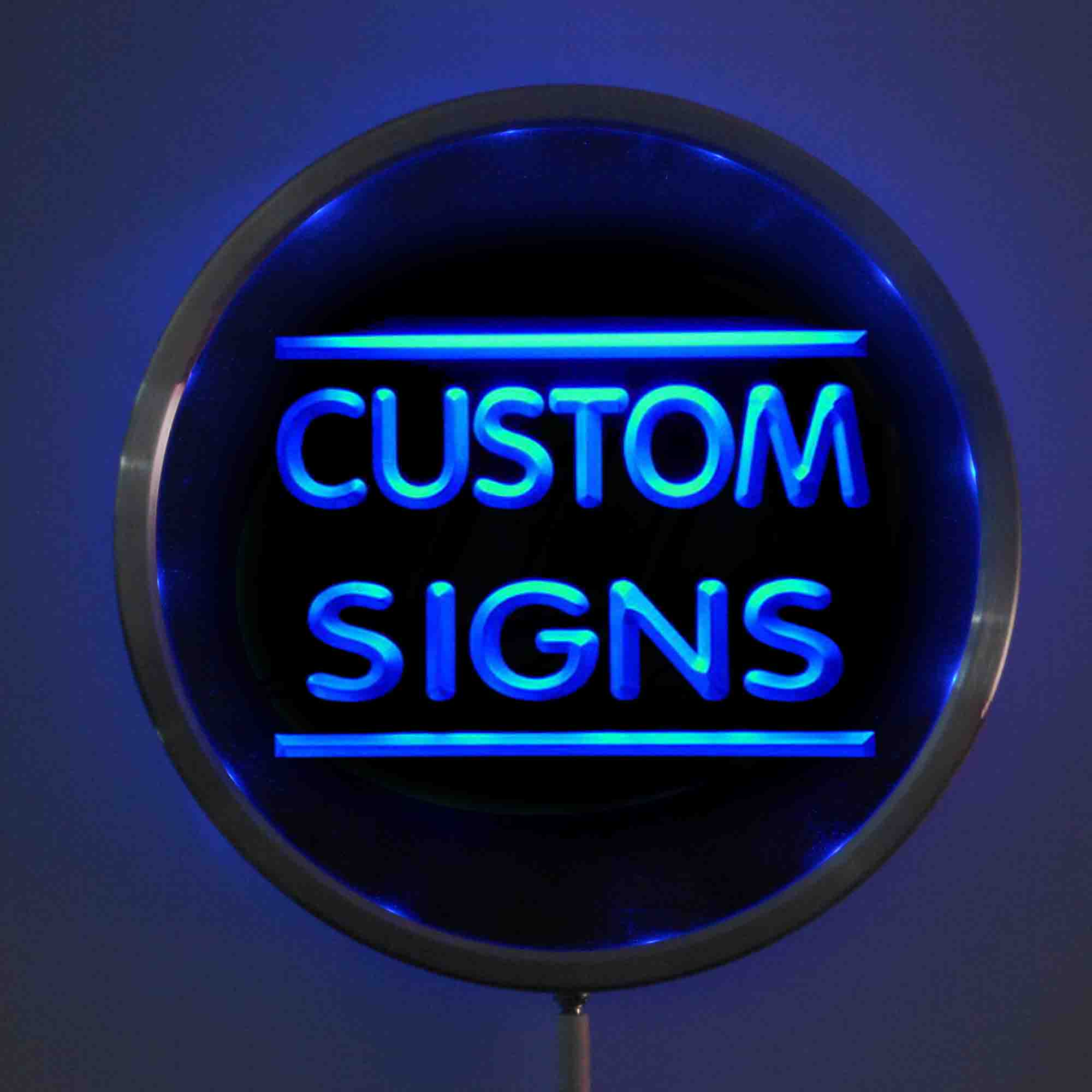 Round Custom LED Neon Signs 25cm/ 10 Inch - Design Your Own Circle LED Signs With RGB Multi-Color Remote Wireless Control