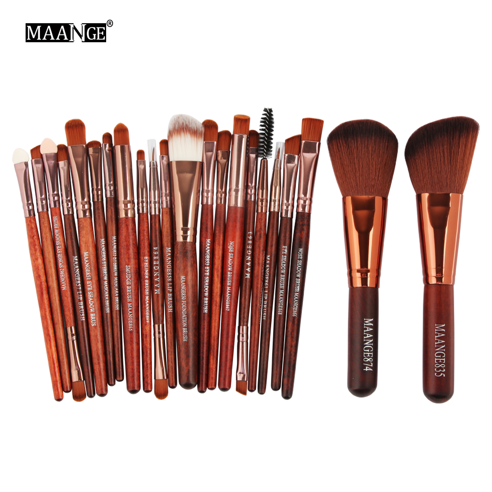 MAANGE Pro 22Pcs Maquiagem Makeup Brushes Set Comestic Eyeshadow Eyeliner Powder Foundation Blush Lip Beauty Make up Brush Tools lades 9pcs pink makeup brushes set comestic powder foundation blush eyeshadow eyeliner lip beauty make up brush tools maquiagem