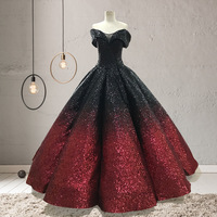 Ruthshen золото великолепное бальное платье Роскошные блестящие Пышное Платье с плеча Vestidos De 15 Sweet Sixteen платье для светской львицы