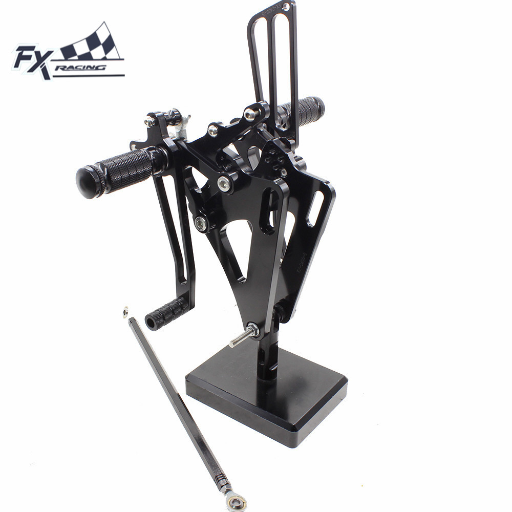 FX CNC Adjustable Motorcycle Rearsets Rear Set Foot Pegs Pedal Footrest For HONDA CB400SF CB400 VTEC SPEC 1 2 3 1999 - 2007 2006 kingsun rear adjustable ball joint camber control suspension arm kit for 1990 1997 honda accord acura cl tl1996 1999 blue