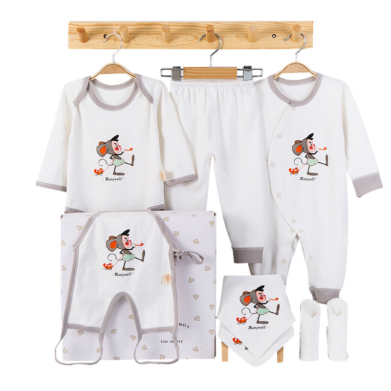 New Cartoon Baby Girl Clothes Soft Cotton Baby Boy Clothes Set Newborn Clothing Pink/Gray New Born Gift for 6-12M 2018 hot 7pcs set 100% cotton material new born baby clothes full kits for kids cotton material baby clothes boy girl newborn