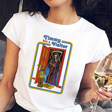 цена FIXSYS Funny Women Vintage T Shirts Summer Fashion Plus Size Tops Loose Round Neck Tees Short Sleeved Shirts Clothing в интернет-магазинах