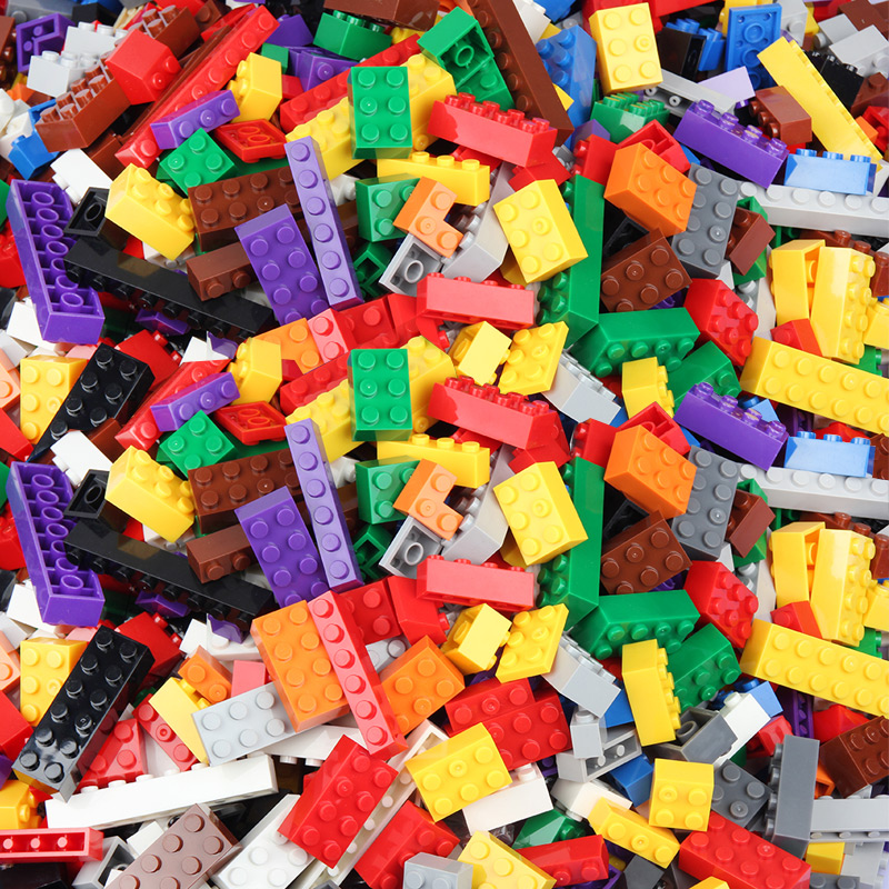 <font><b>1000</b></font>/500 <font><b>PCS</b></font> DIY Building Blocks Set Bricks Baseplate Creative Toys For Children Educational Bulk Bricks <font><b>Compatible</b></font> With <font><b>Legoed</b></font> image