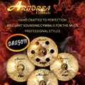 "High recommend ARBOREA Dragon series cymbal set: 14"" hihat+16""crash+20""ride+cymbal bag"