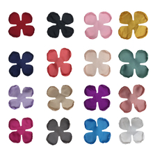 50pcs/lot 5Size 16 Colors DIY Satin Burned Edge Flat Back Poppy Flowers Hair Accessories For Girl Baby headwear Kidocheese