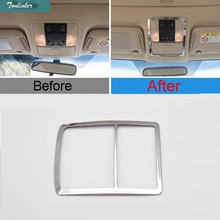 Tonlinker 1 PCS DIY Car Styling New ABS Mirror The Readlight Light Box Cover Case Stickers for Toyota Prado 2014-15 Accessories