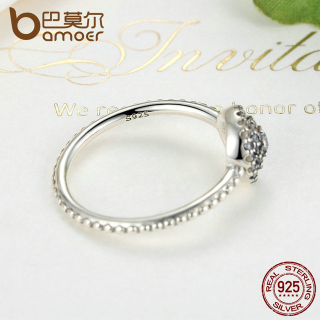 Sterling Silver Round Shape Radiant Elegance Ring