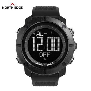 Мужские спортивные армейские часы NORTH EDGE, водонепроницаемые цифровые часы для бега, плавания, дайвинга, 50 м