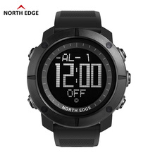 цена на NORTH EDGE World Time Men Sports Army Watches Waterproof 50m Digital Watch Running Swimming Diving Wristwatch Montre Homme