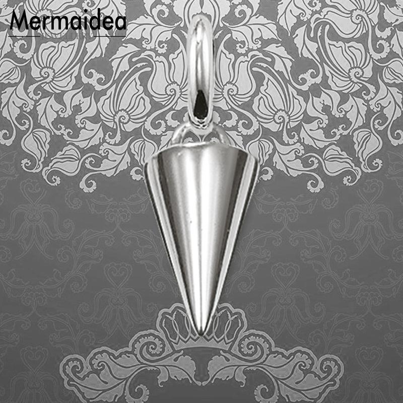 15pcs spike Charms silver tone spike charm pendant 34x5mm
