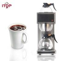 ITOP Neue Edelstahl Destillation Kaffee Maker Maschinen halbautomatische Elektrische Espresso kaffee maker Milch schaum