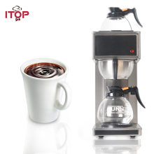 ITOP New Stainless Steel Distilling Coffee Maker Machines semi-automatic Electric Espresso coffee maker Milk foam