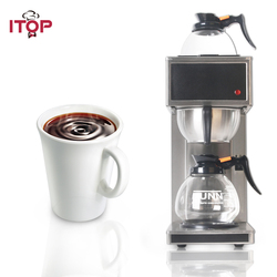 ITOP New Stainless Steel Distilling Coffee Maker Machines semi-automatic Electric Espresso coffee maker Milk foam