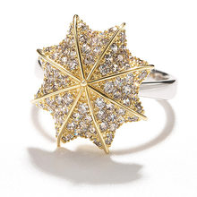 Utimtree Brand New Fashion Band Women's Ring Jewelry Umbrella Shape Full Clear Rhinestone Wedding Engagement Rings for Lover(China)