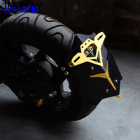 motorcycle rear fender racing Registration Plate Holder motocross Modified Frames Fittings accessories for Yamaha mt07 fz09 z800