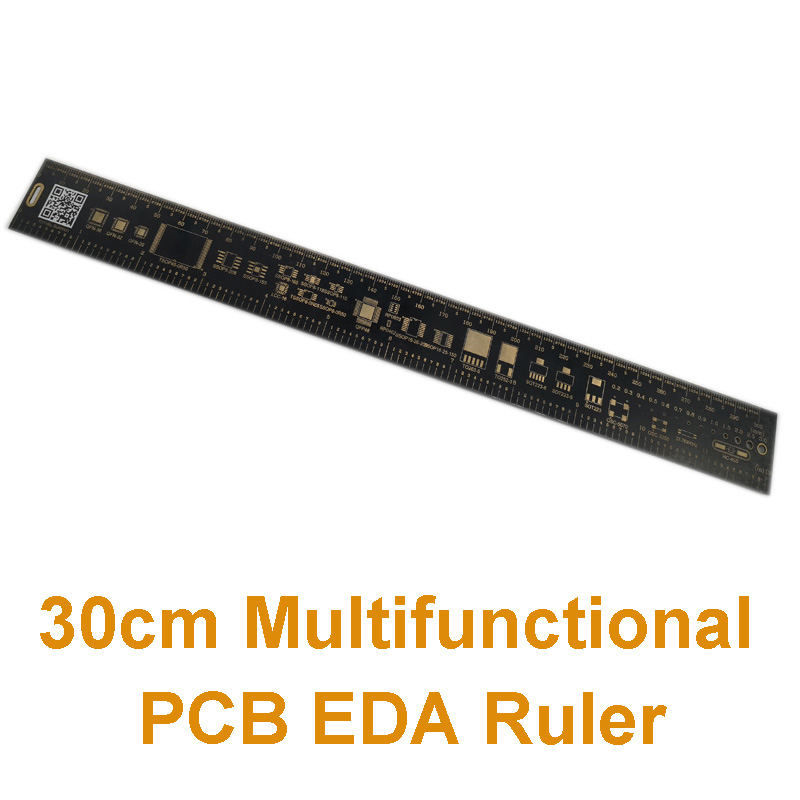 30cm  Multifunctional PCB Ruler EDA Measuring Tool Accurate Metal High Precision Protractor 300mm 11.8