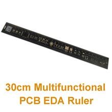 Ruler Multifunctional Protractor 300mm 30cm Eda-Measuring-Tool PCB Metal Accurate High-Precision