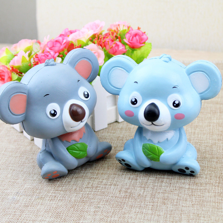 2019 New 12cm Cute Koala Cream Scented Squishy Toy Slow Rising Squeeze Strap Kid Toy Gift    6.10