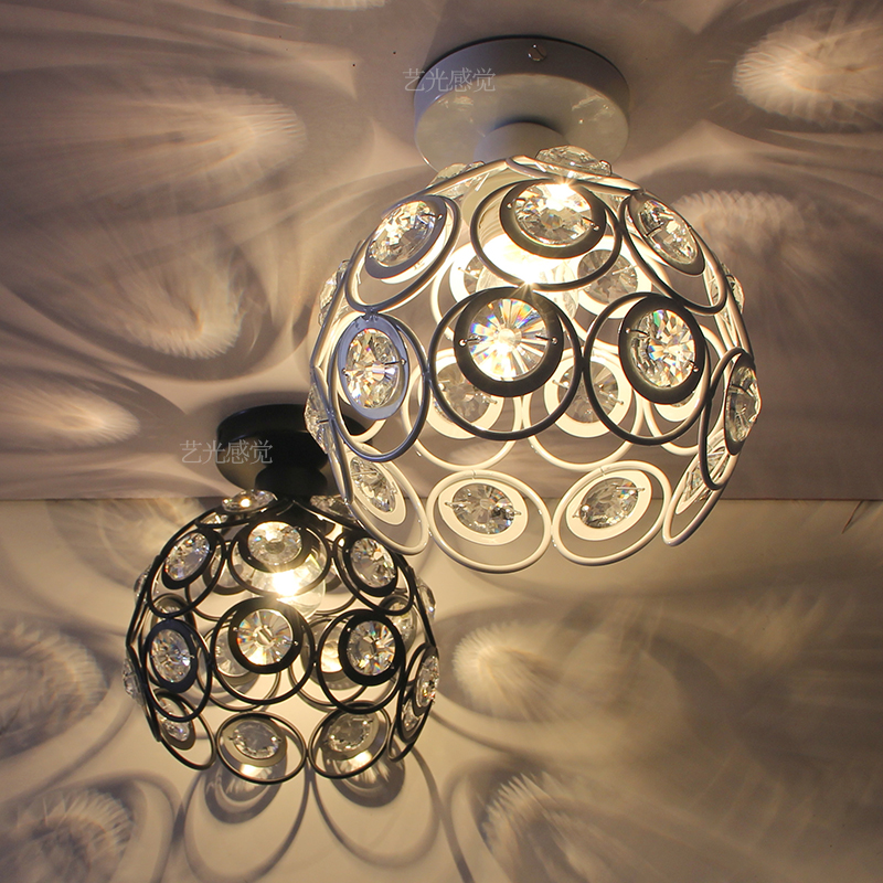 modern crystal ball ceiling light entrance hall light small bedroom lamp stairs lamp cor ...