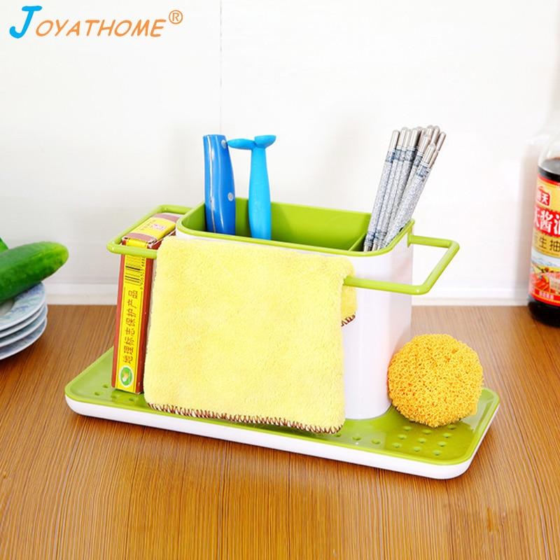 Image 2 - Joyathome Bigger Size Kitchen Sink Drain Storage Rack Sponge Dishwashing Cloth Rack Kitchen Storage Cocina Organizador-in Racks & Holders from Home & Garden