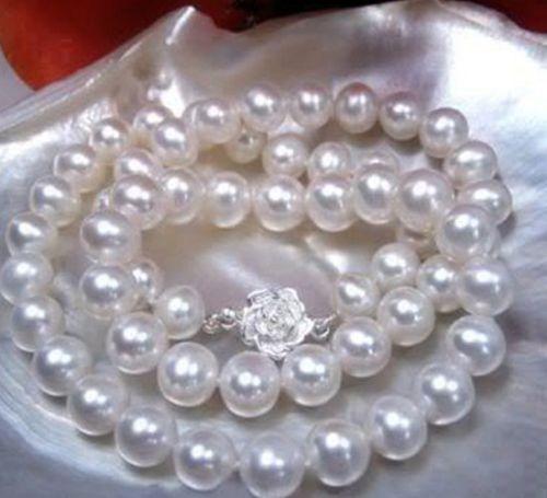 2016 довольно 8 - 9 мм белый Akoya жемчужное ожерелье веревку цепи аксессуары для женщин повелительниц девушок подарки ювелирного дизайна