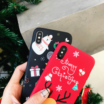 3D Cartoon TPU phone Case for iphone 6 6s 7 8 Plus X Santa Claus Christmas Soft Silicone Cover for iphone XR XS Max snowman Case 1