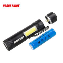 Super Bright XM-L T6+COB LED 4 Mode 3500Lm 14500 Flashlight Torch For Hiking Camping Riding Fishing Hunting Outdoor Sport(China)