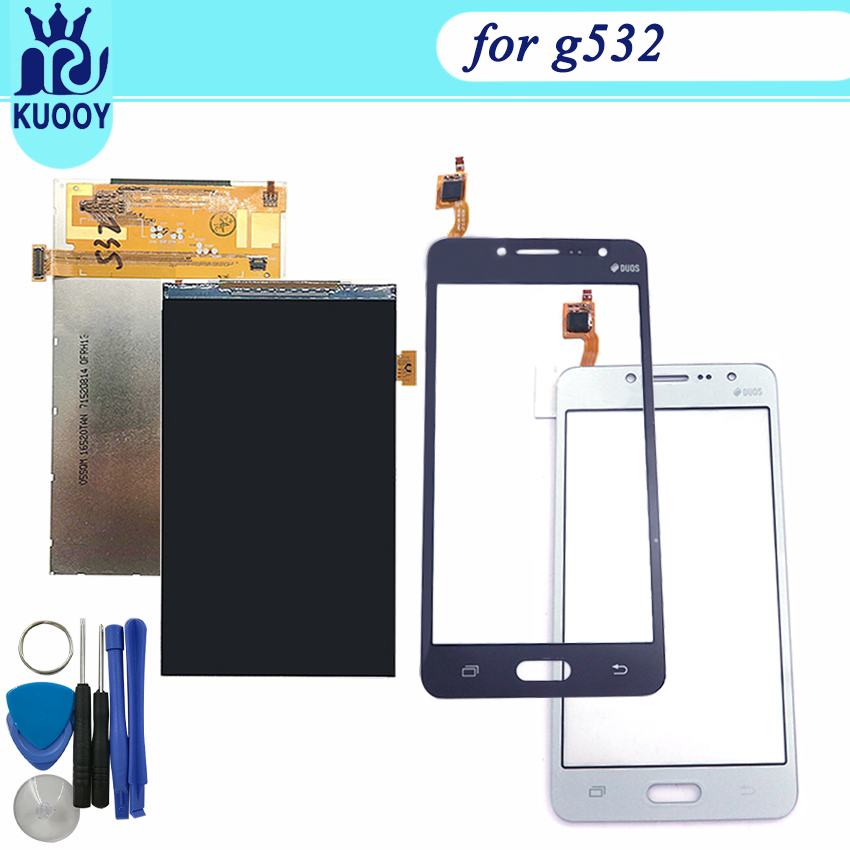 High Quality 5.0 For Samsung Galaxy J2 Prime SM-G532 G532 LCD Display With Touch Screen Digitizer Sensor Panel+Tracking+tools