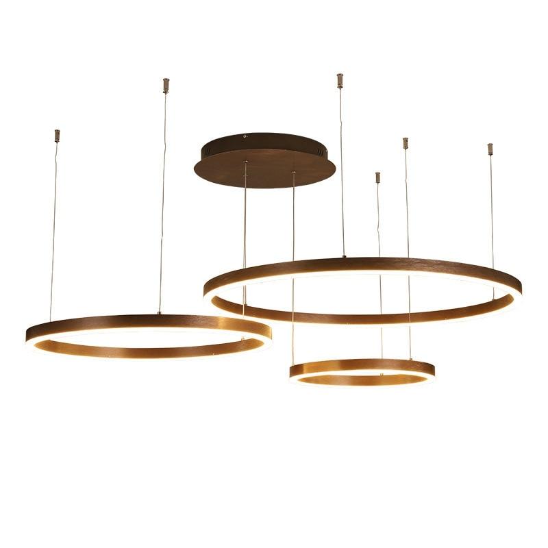 LukLoy Post Modern Luxury Ring Pendant Lamp Light Hall Hanging Lamp Living Room Hanglamp Chandeliers Loft Hanging Light Fixture